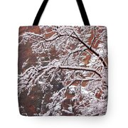 Frosted Branches Tote Bag