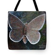 Frosted Butterfly Tote Bag by Kathy DesJardins