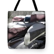 Frosted Canoes Tote Bag