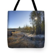 Frosted Fence Tote Bag