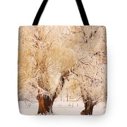 Frosted Golden Trees Tote Bag