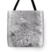 Frosted Grapes Vignette Tote Bag