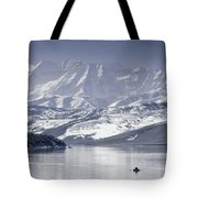 Frosted Mountains Tote Bag