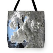 Frosted Pine Needles Tote Bag