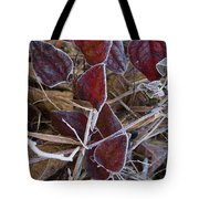 Frosted Red Green Briar Tote Bag