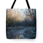 Frosted Riverbank Tote Bag