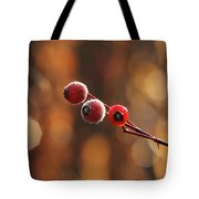Frosted Rose Hips Tote Bag