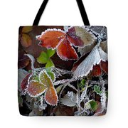 Frosted Strawberries Tote Bag
