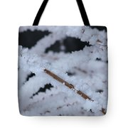 Frosted Twigs Tote Bag