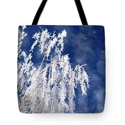 Frosted Weeping Willow Tote Bag