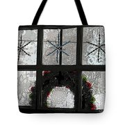 Frosted Windowpanes Tote Bag