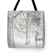 Frosted Winter Tote Bag