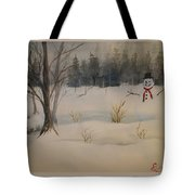 Frosting The Snowman Tote Bag