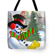 Frosty And Friends Tote Bag
