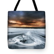 Frosty Beach Tote Bag