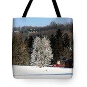 Frosty Birch Tote Bag