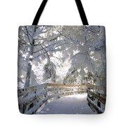 Frosty Boardwalk Tote Bag
