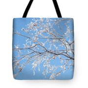 Frosty Branch Tote Bag