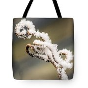 Frosty Curlique With A Twist Tote Bag