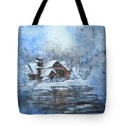 Frosty Day Tote Bag