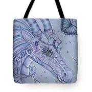 Frosty Dragon Tote Bag