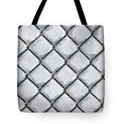 Frosty Fence Tote Bag