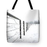 Frosty Fenceline Tote Bag
