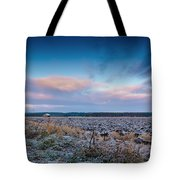 Frosty Fields Tote Bag