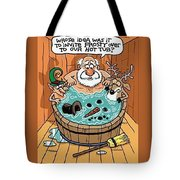 Frosty In A Hot Tub Tote Bag