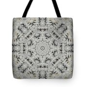 Frosty Lace Doily Tote Bag