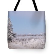 Frosty Landscape Tote Bag