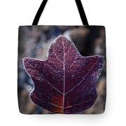 Frosty Lighted Leaf Tote Bag