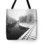 Frosty Morning On The Poudre Tote Bag