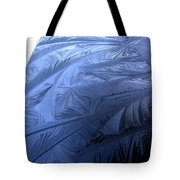 Frosty Palm Tree Fronds On Car Trunk Tote Bag