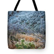 Frosty Prickly Pear Tote Bag