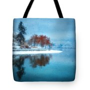 Frosty Reflection Tote Bag