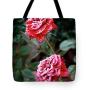 Frosty Rose Tote Bag