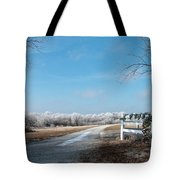 Frosty Wreath Tote Bag