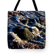Froth On Rocks Tote Bag