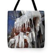 Frozen Apostle Islands National Lakeshore Portrait Tote Bag