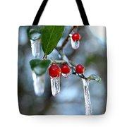 Frozen Berries Tote Bag by Donna Bentley