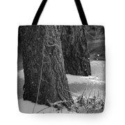 Frozen Black And White Tote Bag