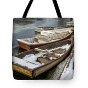 Frozen Boats Tote Bag