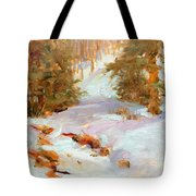 Frozen Creek Tote Bag
