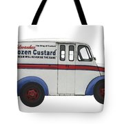 Frozen Custard On Wheels Tote Bag