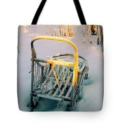 Frozen Dogsled Tote Bag