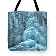 Frozen Falls Along The Icefields Parkway Tote Bag