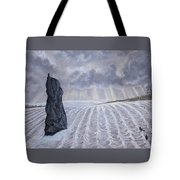 Frozen Field Megalith Tote Bag