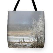 Frozen Fog Ranch Scene Tote Bag