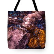 Frozen Lake Abstract Tote Bag by Tom Potter